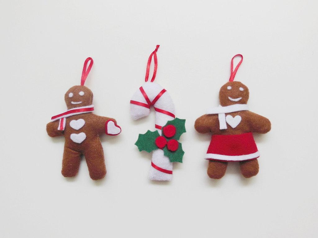 Ben noto Set 3 decorazioni per l'albero di Natale: gli addobbi in feltro  SI06