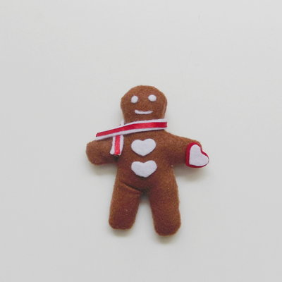 Calamita 'Biscotto di panpepato': la decorazione in feltro per un dolce Natale di pandizenzero!