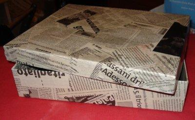 Scatola con giornali per la casa e per te decorare for Giornali arredamento casa