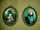 ciondoli collane con cobochon in vetro dolls