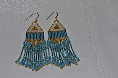 Orecchini pendenti color turchese