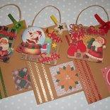 Set Quadretto Decorativo in Scrapbooking 3D Porta Letterina per Babbo Natale^^ (Busta e Carta da Lettere Comprese)