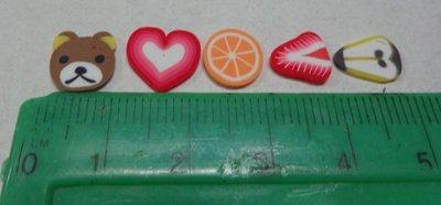 43 Fettine GRANDI di Polymer clay Canes - PERA E ORSO