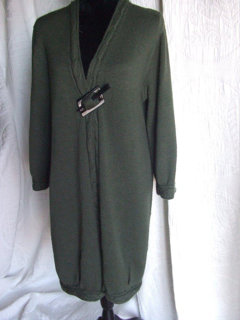 cappotto giacca donna lana maglia fatto a mano ferri