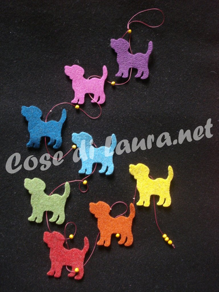 Ghirlanda decorativa cani