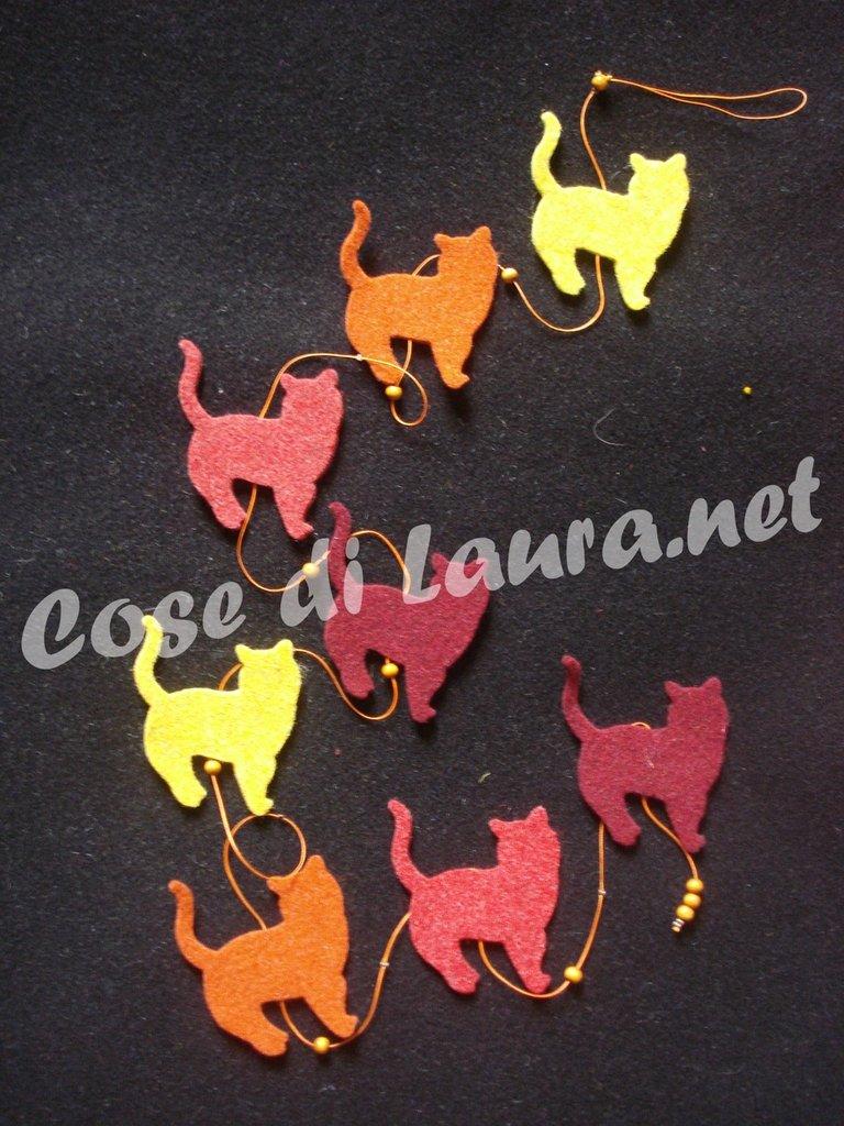Ghirlanda decorativa gatti