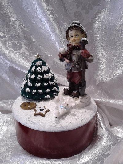 "Scatola regalo ""Bimbi sotto la neve"""