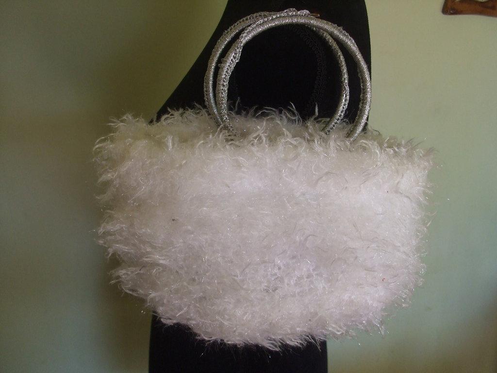 borsa borsetta pochette lana maglia