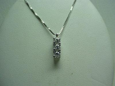 Collana Trilogy in oro 18kt e diamanti taglio brillante--Ciondolo---