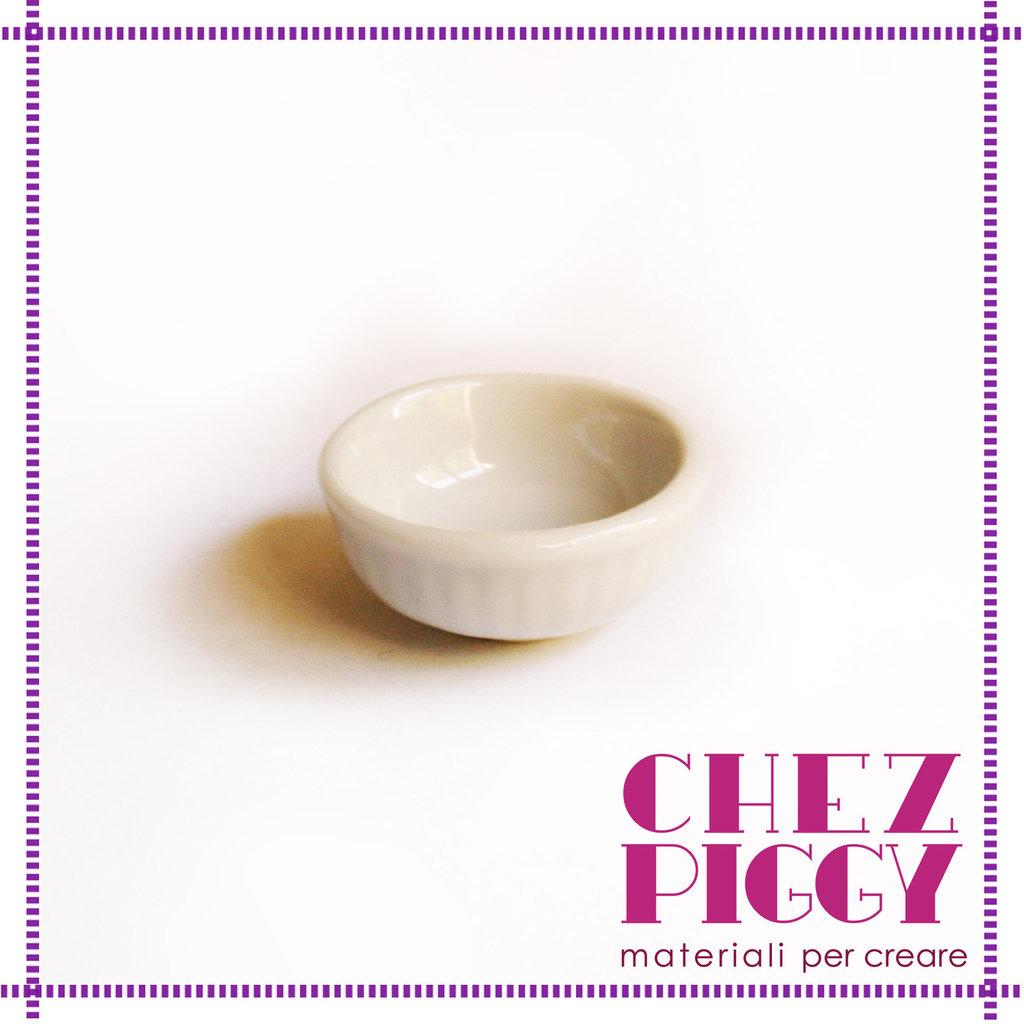 1 x scodella tazza di ceramica in miniatura