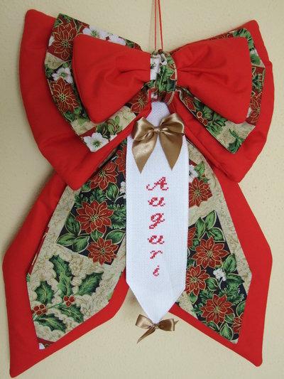 Fiocco strenna natalizio rosso 1