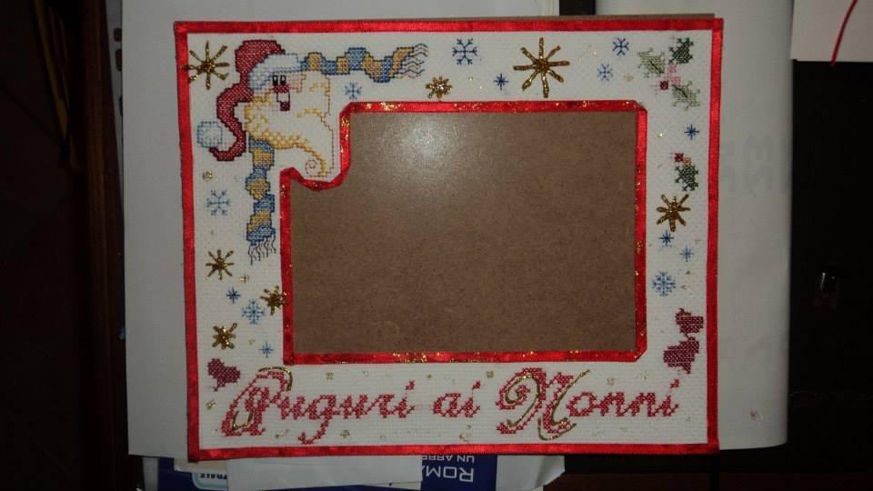 Eccezionale quadro ricamo punto croce regalo Natale bimbi artigianale - Feste  AE67