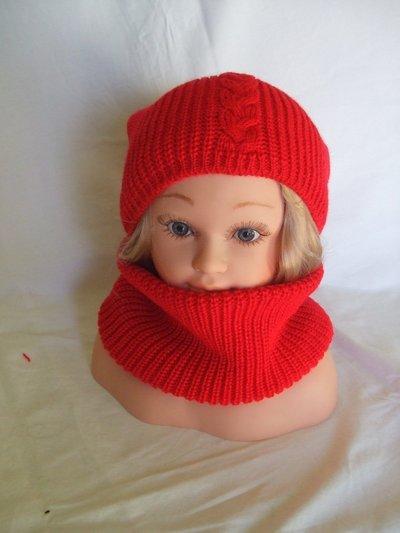 cappello beretto lana maglia + scalda collo sciarpa