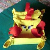 Cestino portaoggetti con sacchetti profuma armadio a forma di gufo