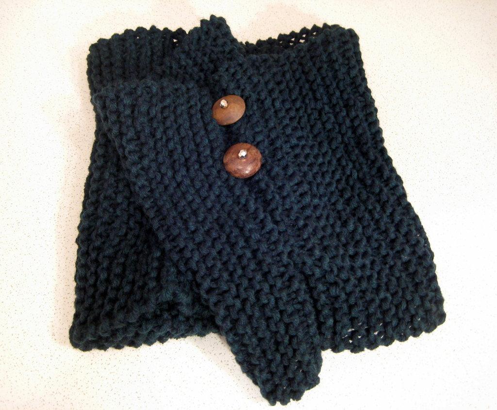 Sciarpa lana verde circolare