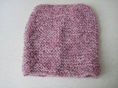 Scaldacollo lana lilla e bianco per bambina