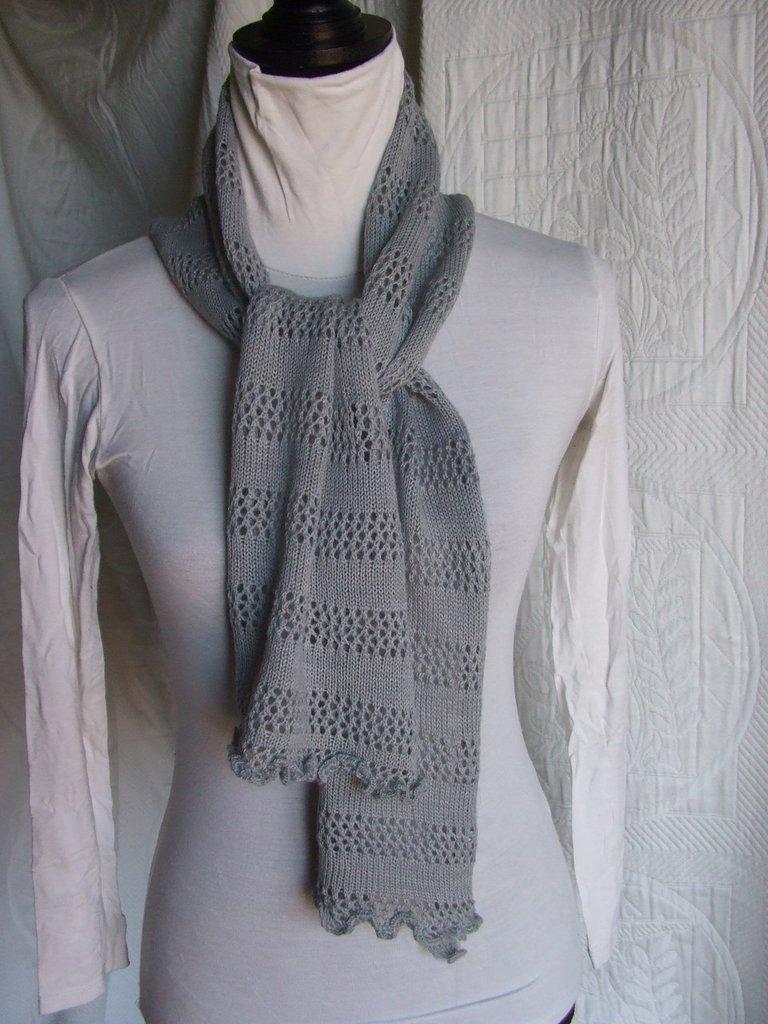 sciarpa lana sottile maglia donna