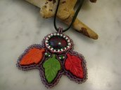Ciondolo Autunno Bead Embroidery