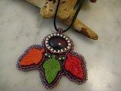 Ciondolo Autunno Bead Embroidery