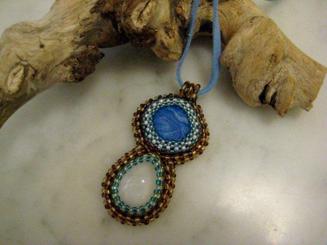 """Ciondolo """"India"""" Bead Embroidery"""