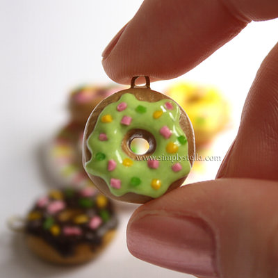 Donut Charm - Green