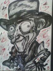 Caricatura personaggio Attore  simpatico e spiritoso