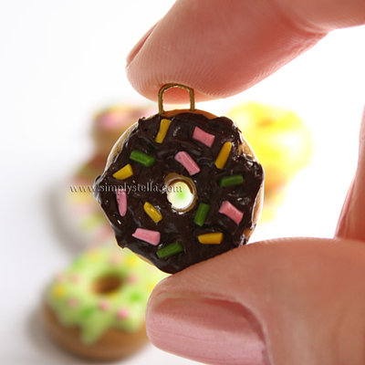 Donut Charm - Chocolate