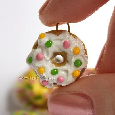 Donut Charm - White