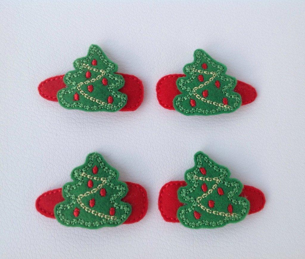 """Mollette per capelli """"Albero di Natale"""" - set di 2 pezzi"""