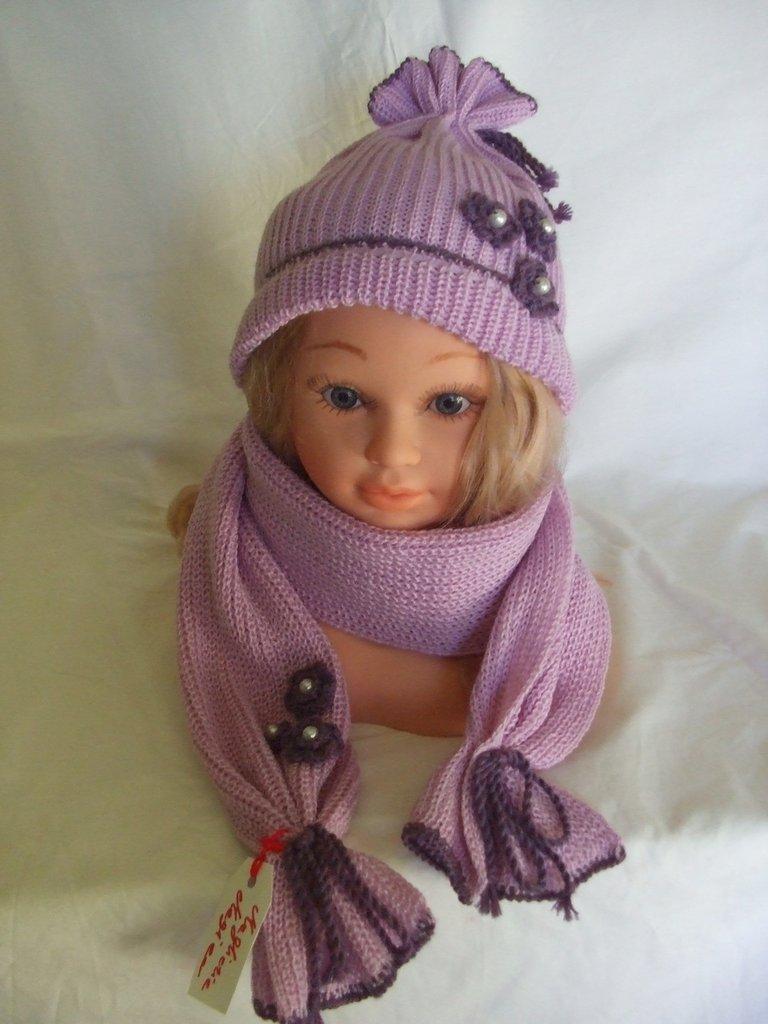 sciarpa scalda collo bimba+ cappello lana