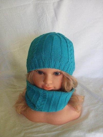 cappello lana + scalda collo sciarpa  bimba maglia