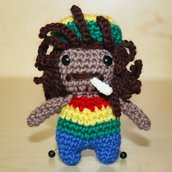 Portachiavi Bob Marley amigurumi