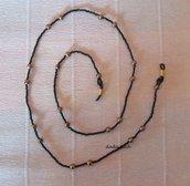 Catenella per occhiali in perline fatta a mano