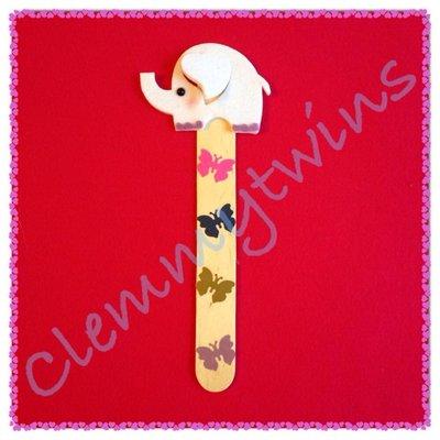 Segnalibro elefantino in feltro e legno