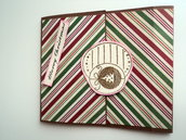Biglietto porta-soldi in marrone e colori del Natale