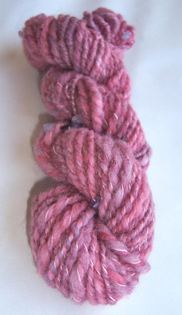 Filato artigianale lana Cheviot e pietre dure - 50 grammi