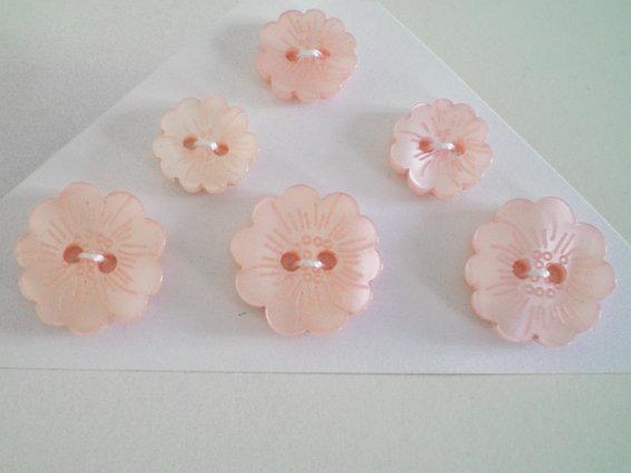 bottoni fiore assortiti 6 pz