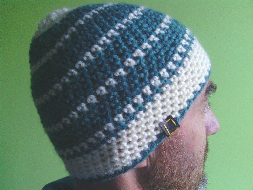 _cappello  uomo, donna  ragazza in lana, fatto a mano all'uncinetto C079_