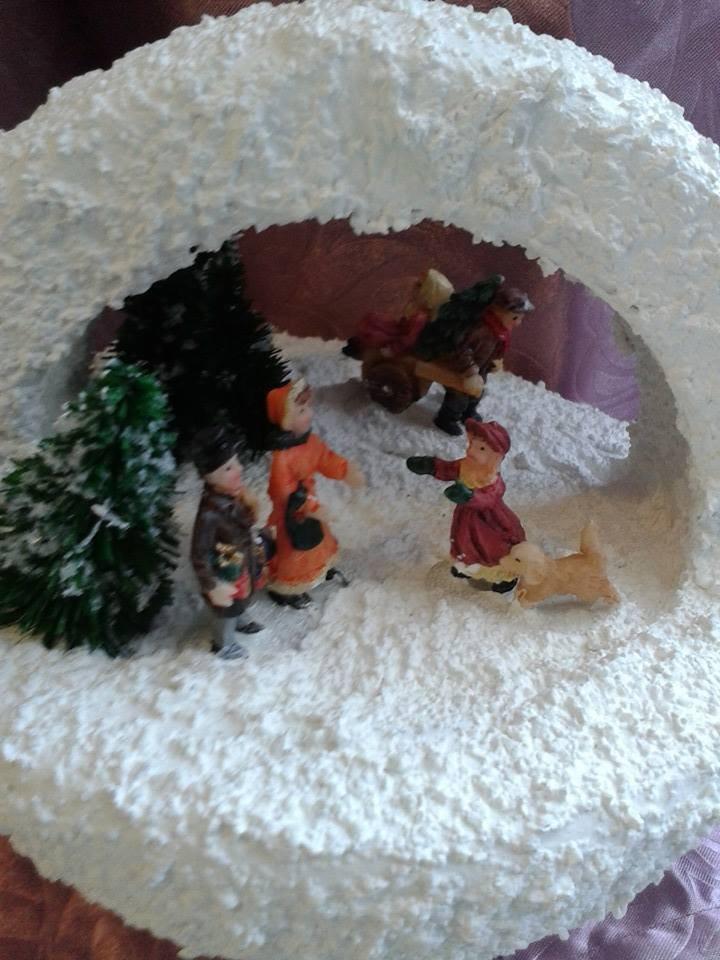 giocando sulla neve