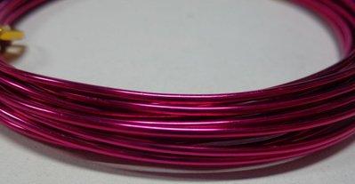 6 metri Filo Alluminio colore FUCSIA