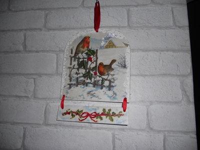 addobbo natalizio con uccellini