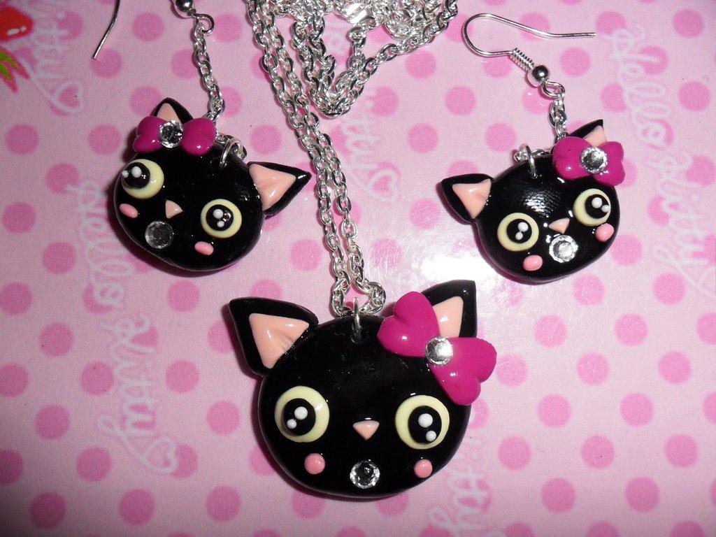 PARURE BLACK CATS