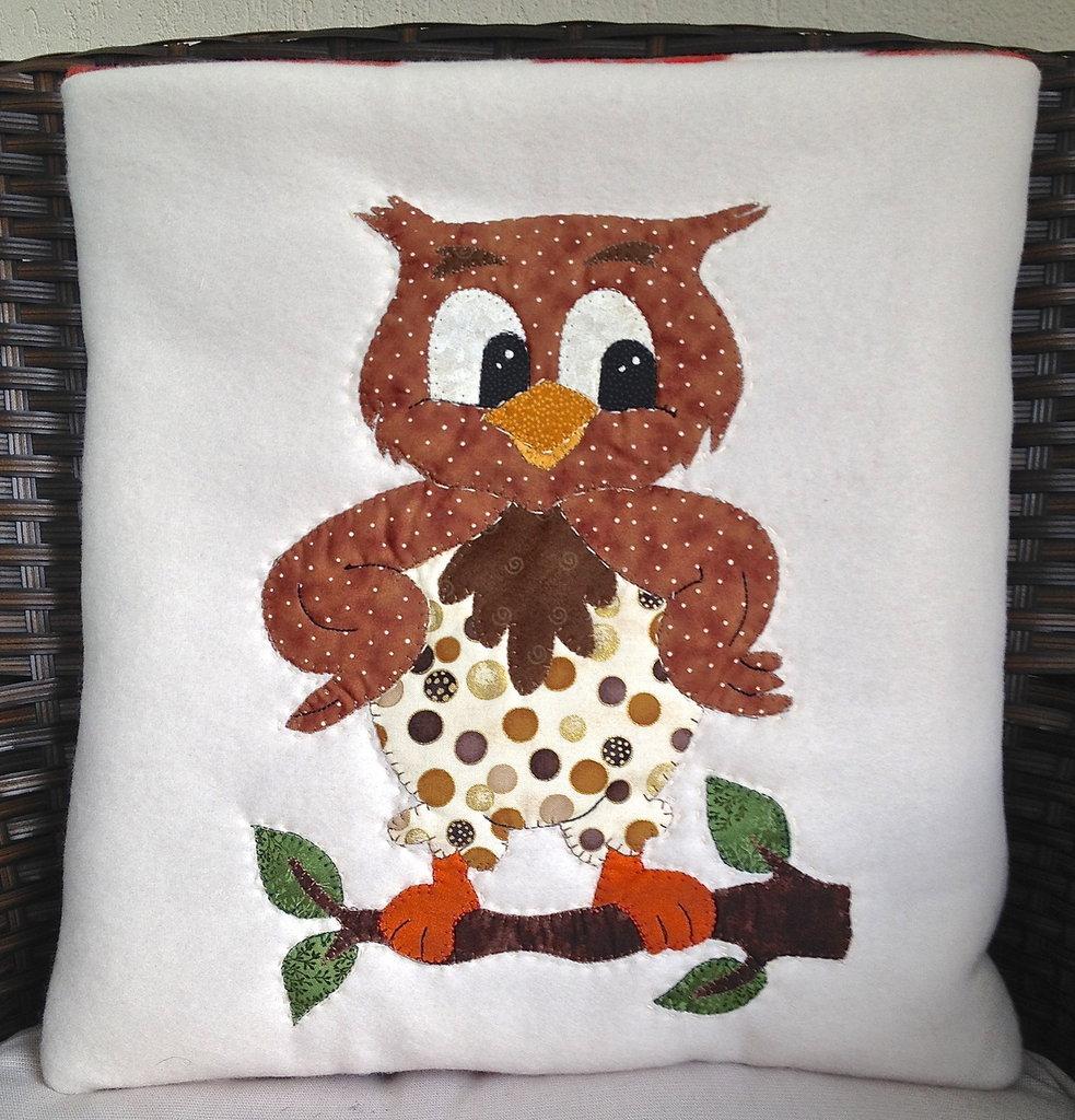 cuscino quillow gufo - un cuscino con dentro un plaid