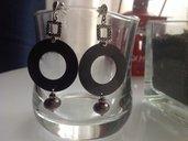 """Orecchini """"Circle"""" in argento brunito"""