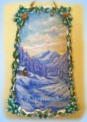 Tegola in juta Inverno con paesaggio