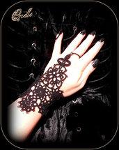 """Bracciale Nero Pizzo/ Black Slave Bracelet """"Proserpina"""""""