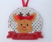 Ornamento personalizzato per albero di Natale - Renna