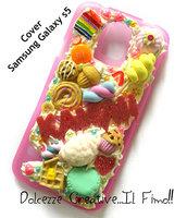 Cover Samsung Galaxy S5 - Cookie Samrties miniature rilakkuma macarones kawaii panna idea regalo