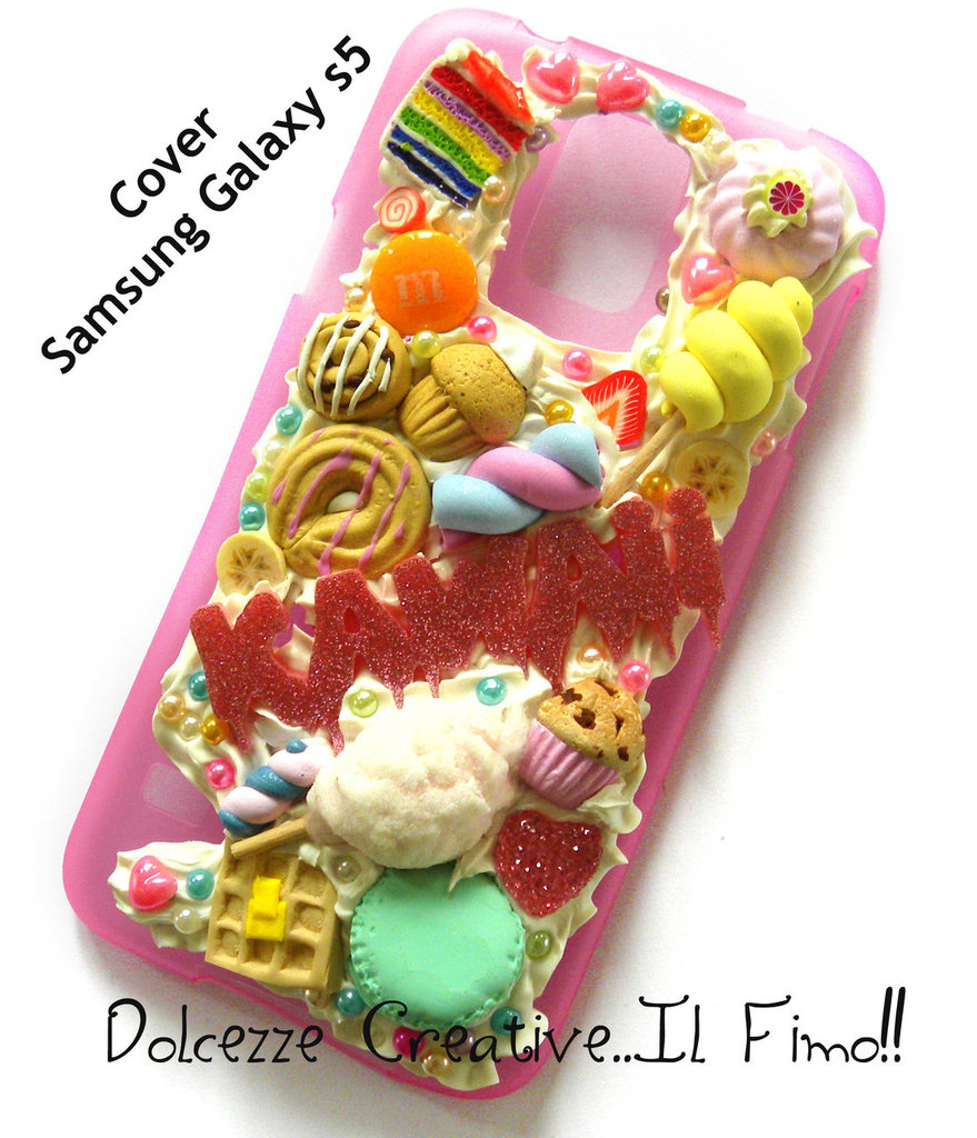 Cover Samsung Galaxy S5 - Cookie Samrties miniature rilakkuma macarones kawaii panna idea regalo