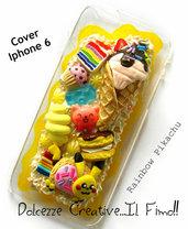 Cover IPhone 6/6s Rainbow Pikachu zucchero filato caramelle biscotti gelato cake